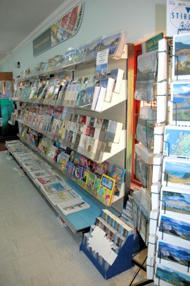 The Lochcarron Food Centre includes a newsagent's selling national and local newspapers as well as a good range of magazines.